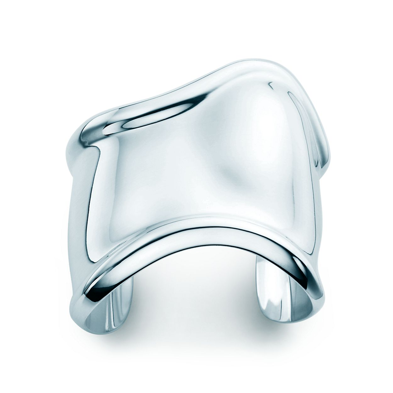 Elsa Peretti Bone cuff in sterling silver, medium, left wrist - Size Medium Tiffany & Co.