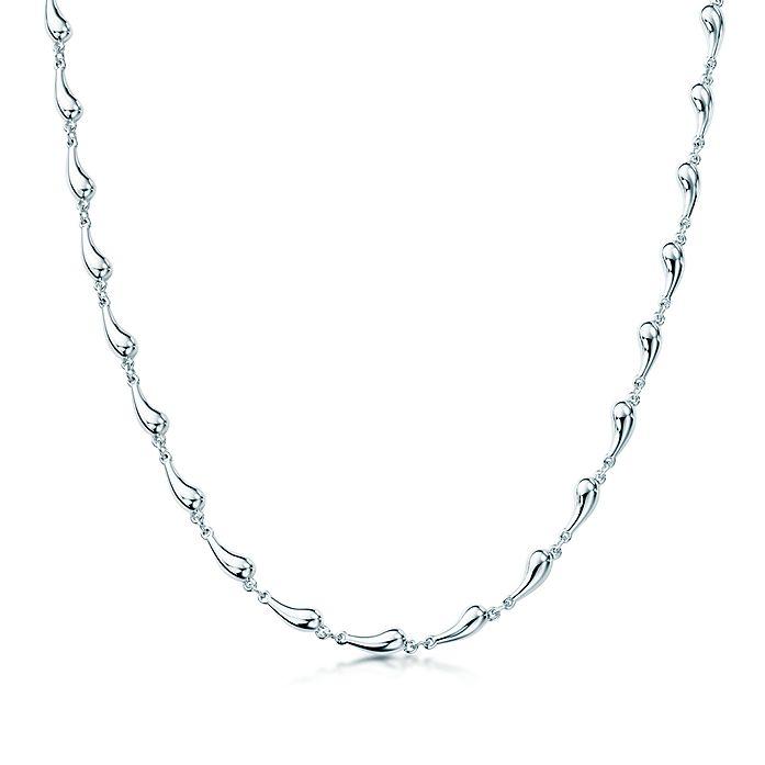 49943ed6f Elsa Peretti® Teardrop necklace in sterling silver. | Tiffany & Co.