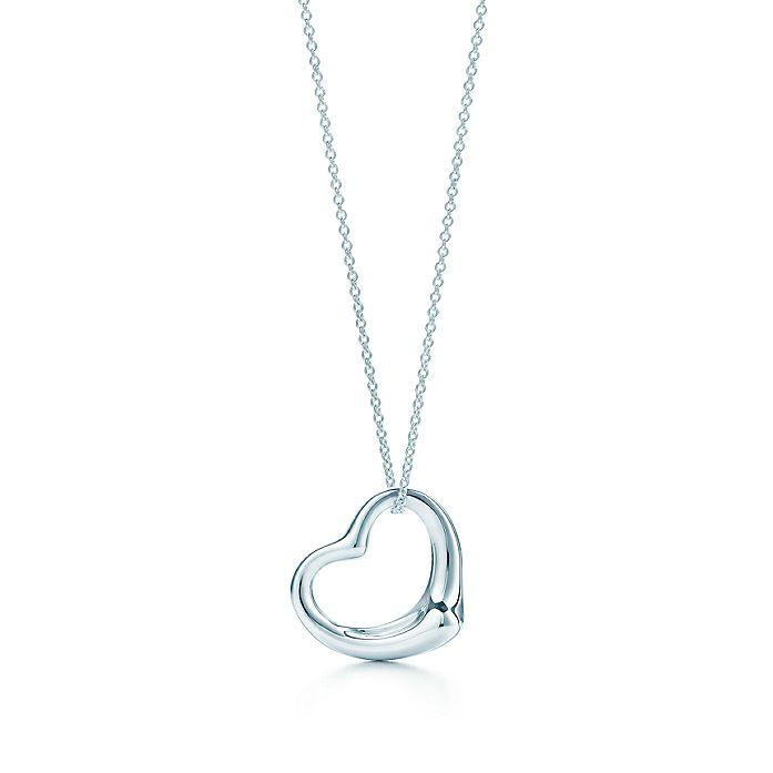 f84b55e8691 Elsa Peretti® Open Heart pendant in sterling silver.   Tiffany & Co.