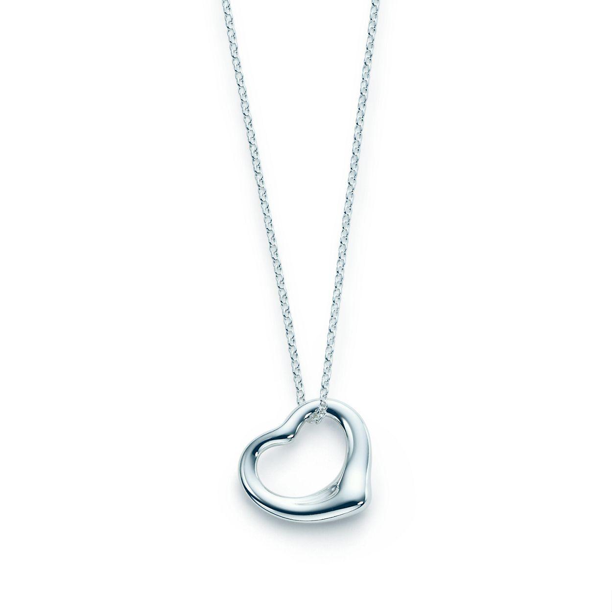 Elsa Peretti Ouverte Pendentif En Argent Sterling Avec Un Diamant Tiffany & Co. 2Ku45