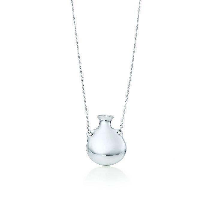 c41abc6cd Elsa Peretti® Bottle open bottle pendant in sterling silver, medium ...