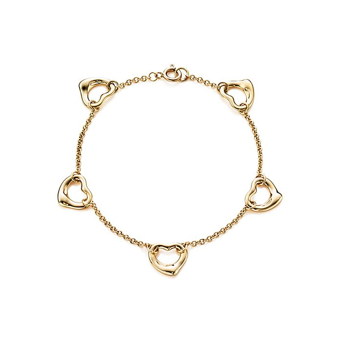 562bfacd9 Elsa Peretti® Open Heart bracelet in 18k gold, medium. | Tiffany & Co.