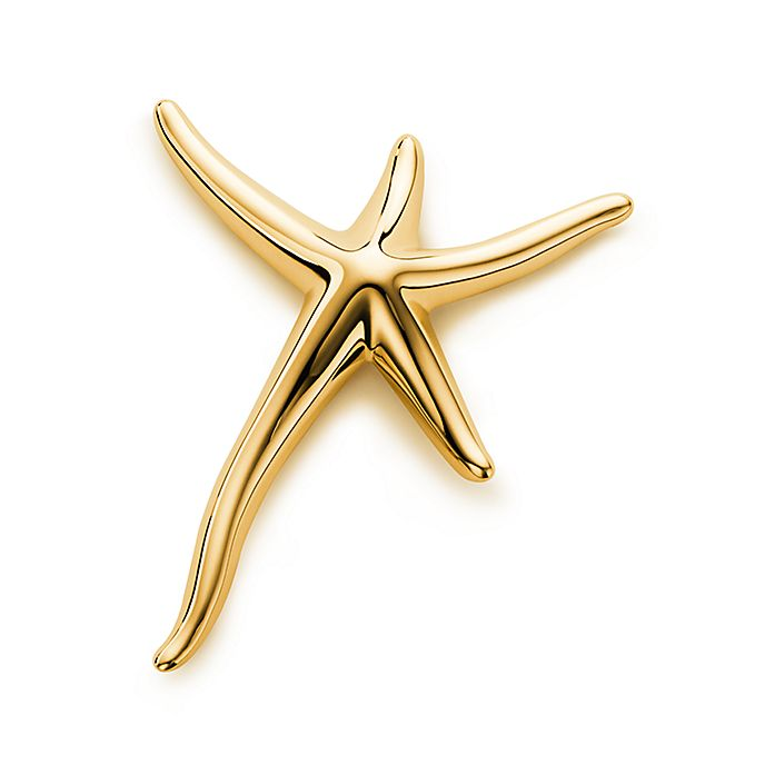 be175f164 Elsa Peretti® Starfish brooch in 18k gold, large. | Tiffany & Co.