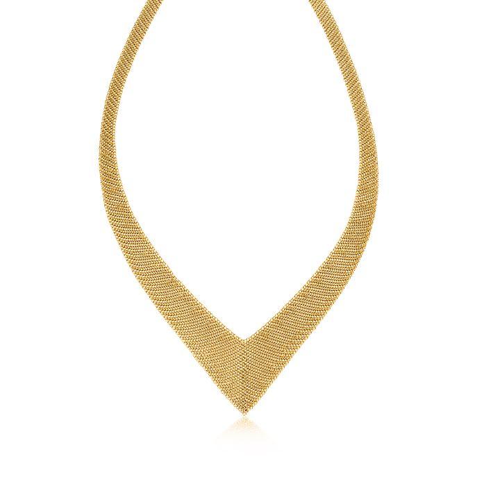 7f927ccd749 Elsa Peretti® Mesh necklace in 18k gold