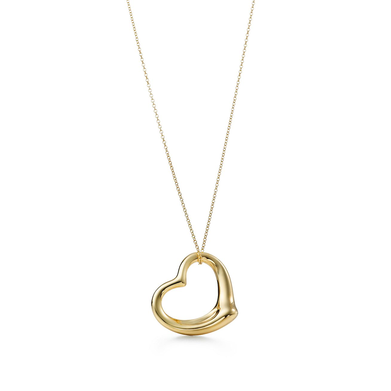 Elsa peretti open heart pendant in 18k gold tiffany co elsa perettiopen heart pendant aloadofball Gallery