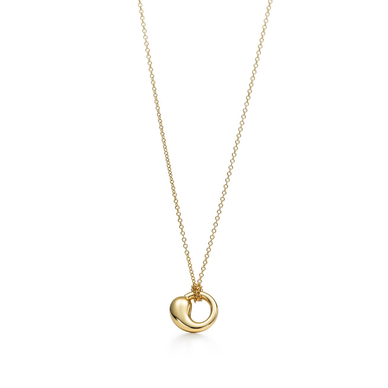 Elsa peretti eternal circle pendant in 18k gold small tiffany co elsa perettieternal circle pendant mozeypictures