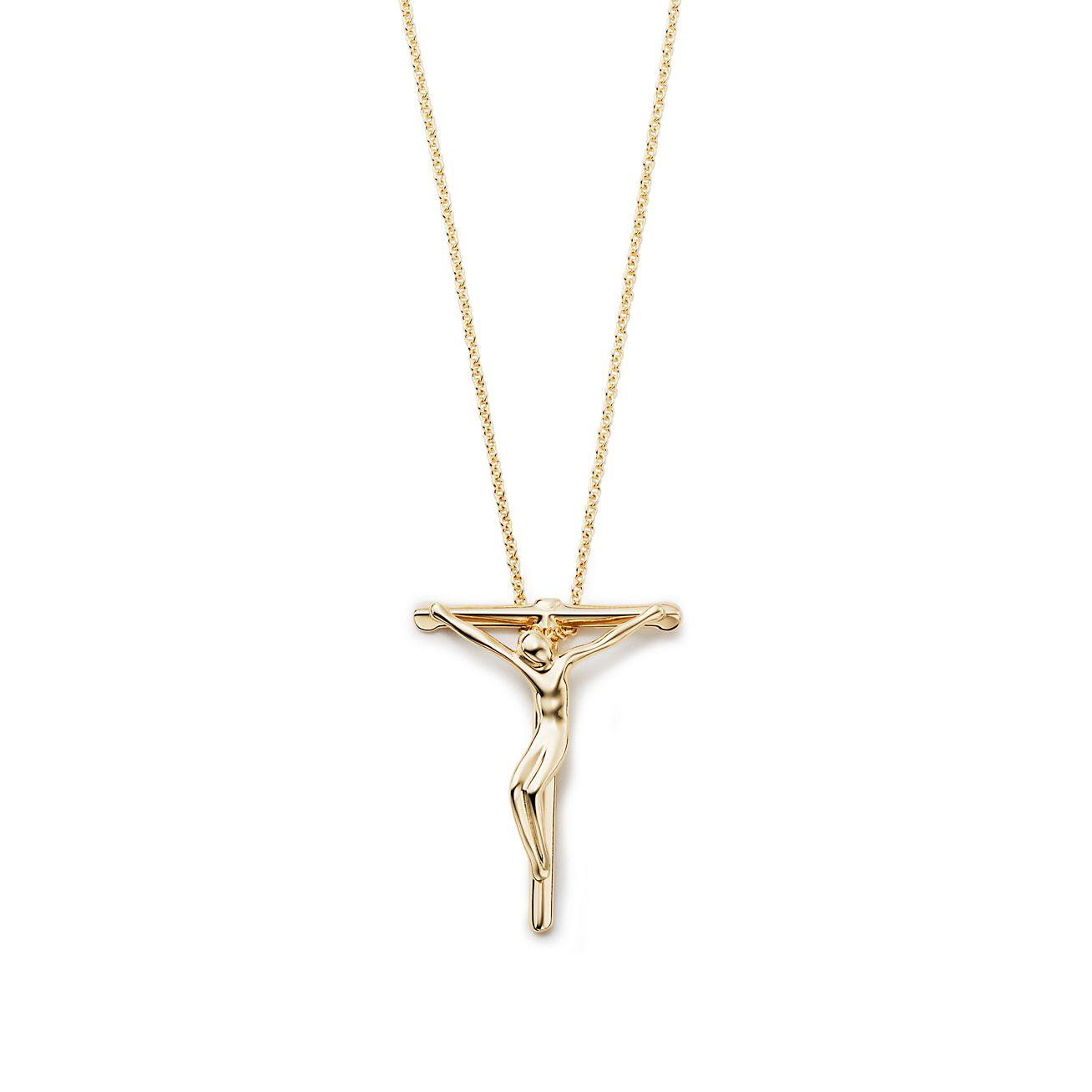 Elsa Pendentif Peretti Crucifix En Argent Sterling, 27 Mm De Large - Taille 27 Mm Tiffany & Co.