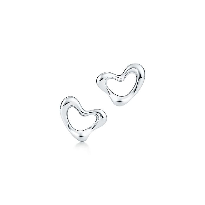 6a59c118e Elsa Peretti® Open Heart ear clips in sterling silver. | Tiffany & Co.