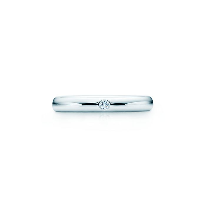63ebfbd03 Elsa Peretti® band ring. Diamond, platinum. | Tiffany & Co.