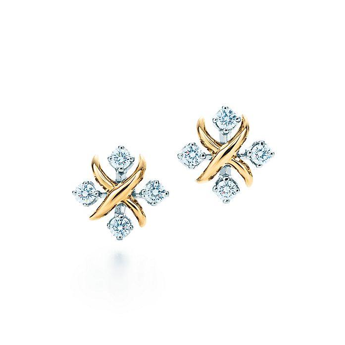 0265c47a5702 Tiffany   Co. Schlumberger Lynn earrings in 18k gold with diamonds ...