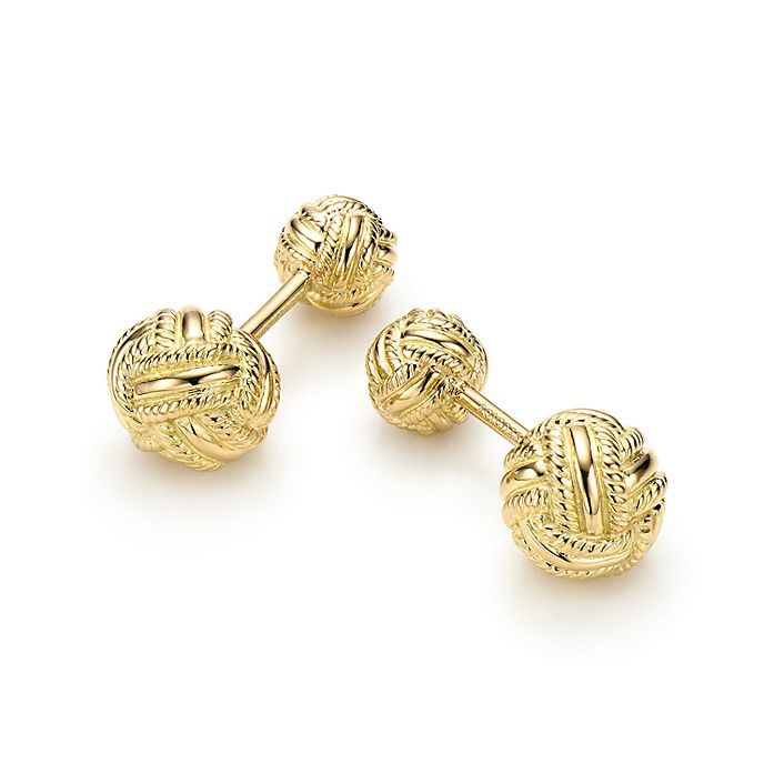 d7bd2a3fa Tiffany & Co. Schlumberger® Woven Knot cuff links in 18k gold ...