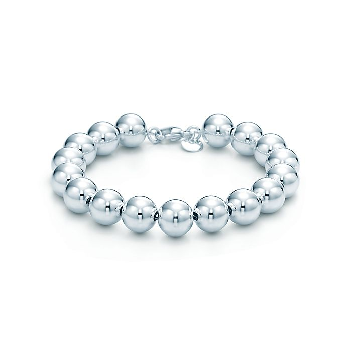 db3af4ea7 Bead bracelet in sterling silver, 7.5