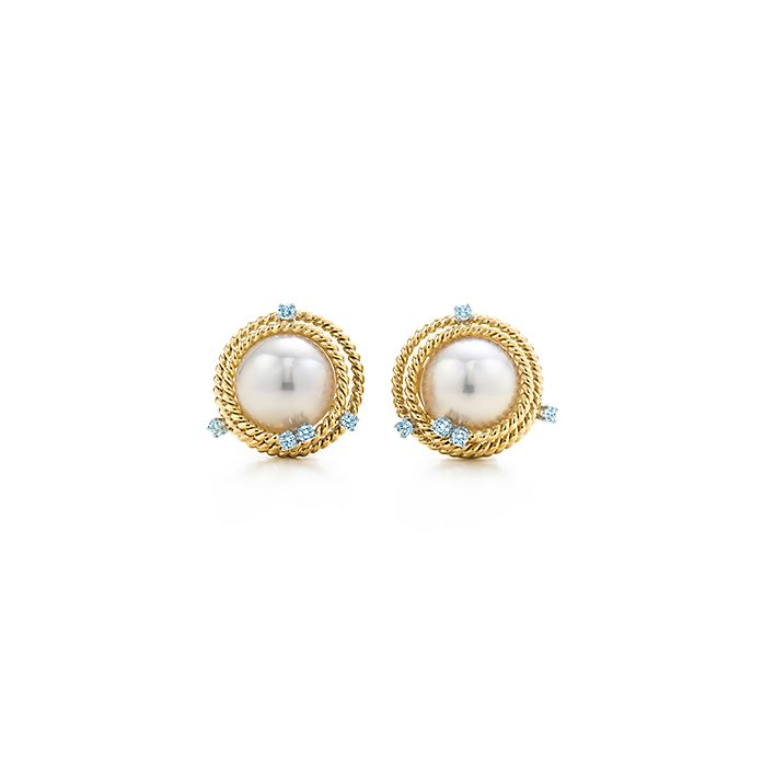 686f8c373f7c Tiffany   Co. Schlumberger Rope ear clips in 18k gold with pearls ...