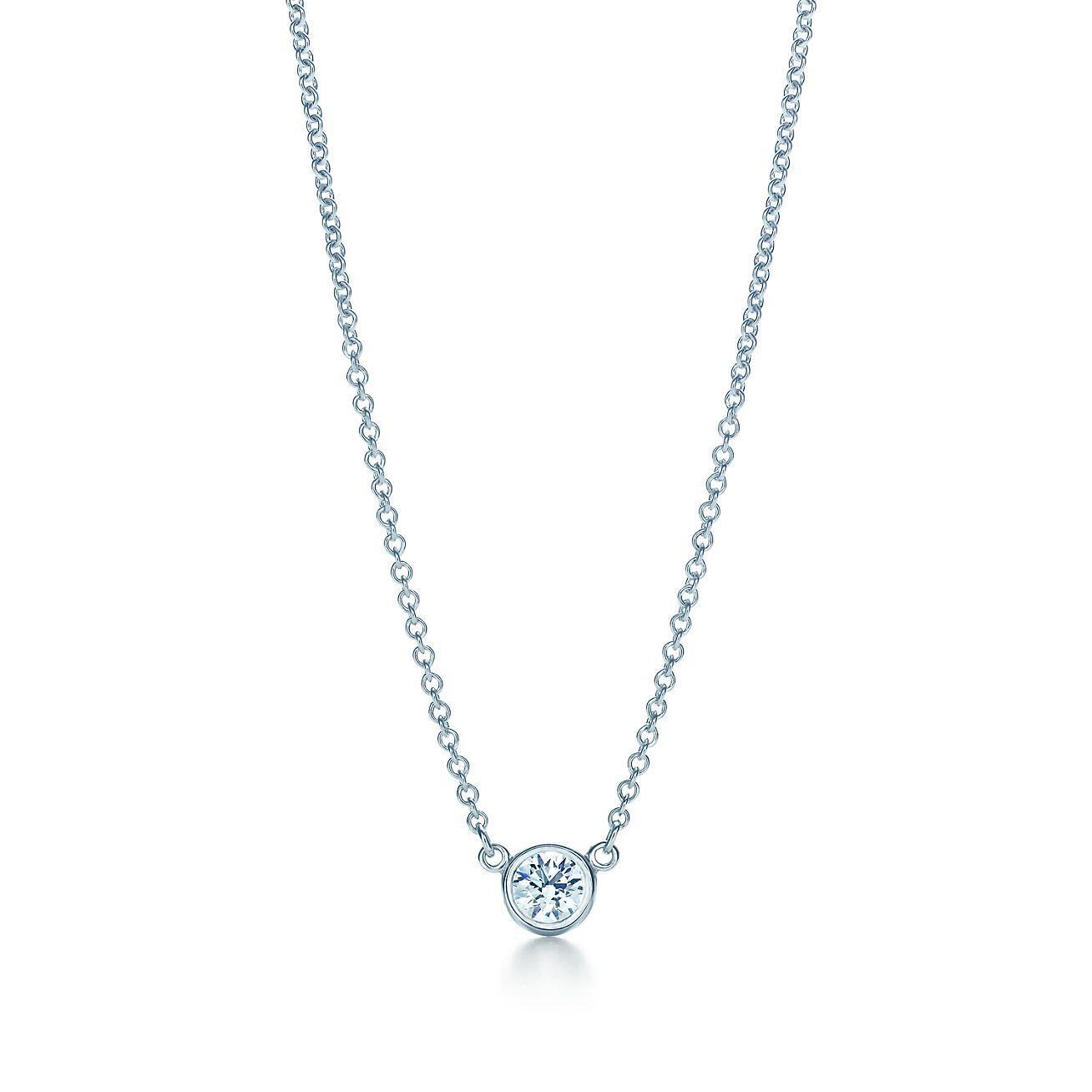 Elsa peretti diamonds by the yard pendant in platinum 16 long elsa perettidiamonds by the yard pendant aloadofball Choice Image