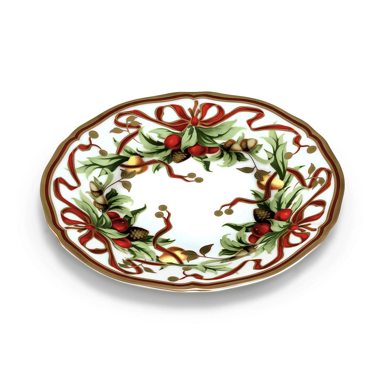 Tiffany Holiday™ dessert plate in porcelain. | Tiffany & Co.