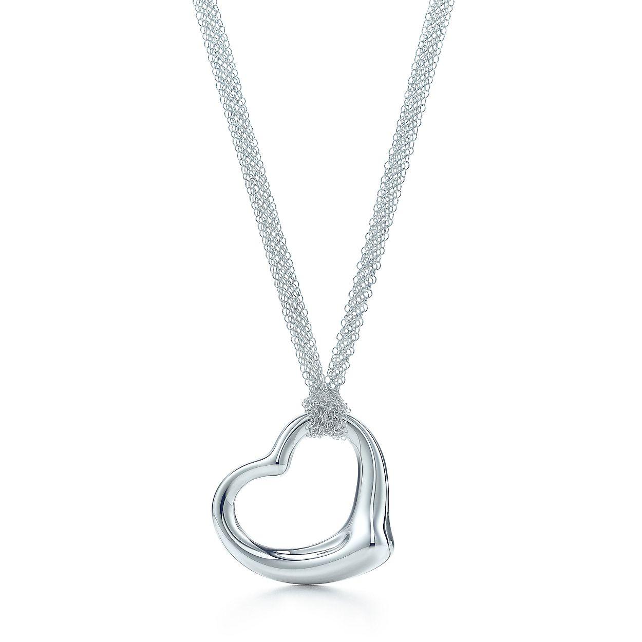 Elsa peretti open heart pendant in sterling silver on a 30 mesh elsa perettiopen heart pendant aloadofball Gallery