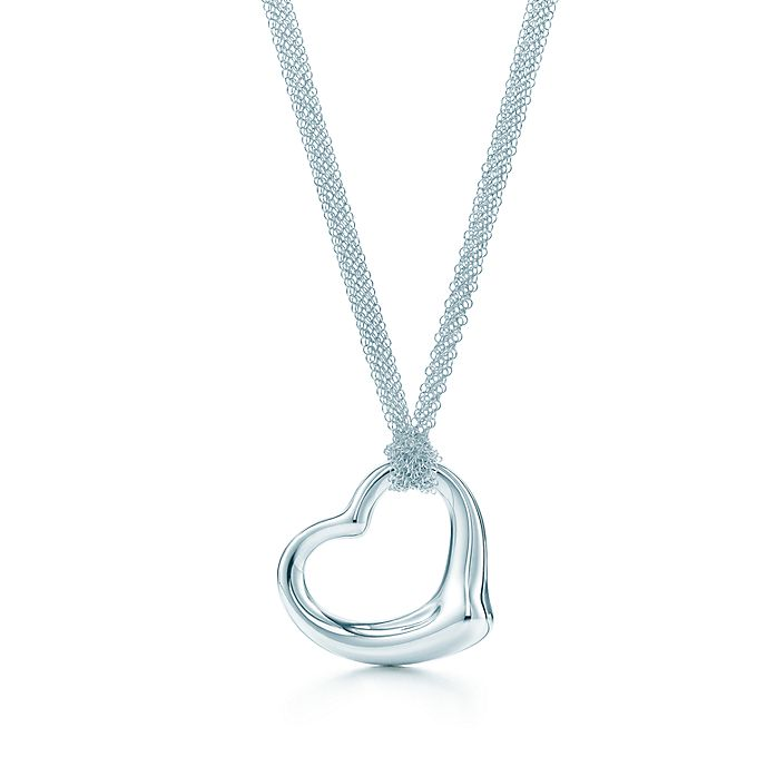 3844f792a04 Elsa Peretti® Open Heart pendant in sterling silver on a 30