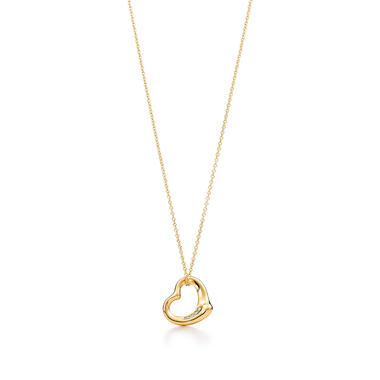 Elsa peretti open heart pendant in 18k gold with diamonds elsa perettiopen heart pendant aloadofball Choice Image