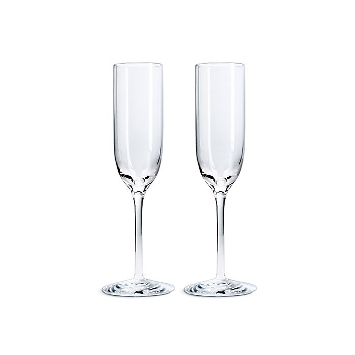 01891688d7a42 Champagne flutes in mouthblown crystal