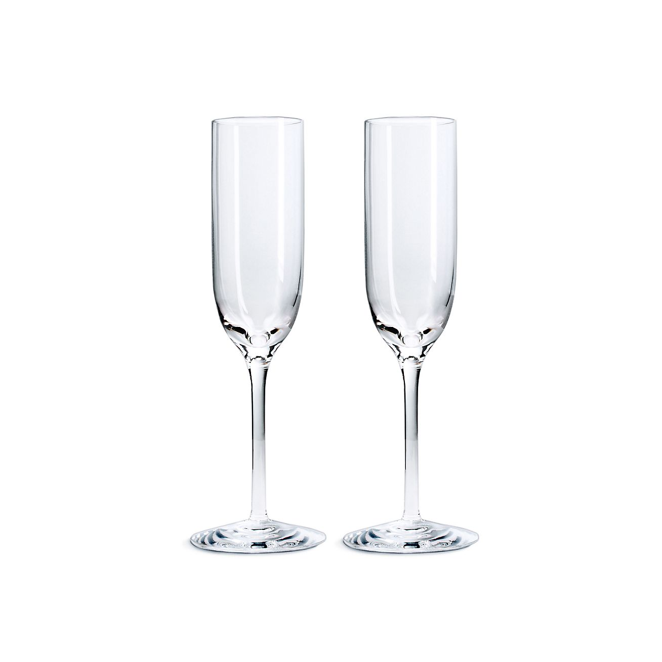 Champagne Flutes In Mouthblown Crystal Set Of Two Tiffany Co