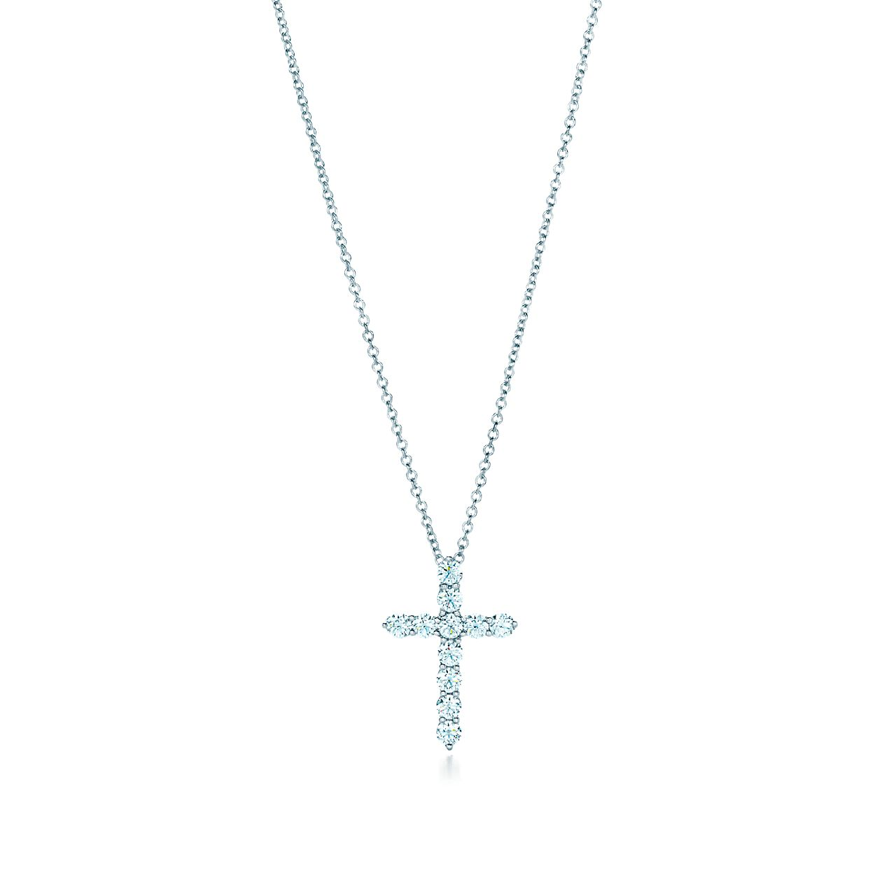 Cross pendant in platinum with diamonds small tiffany co cross pendant cross pendant aloadofball Choice Image