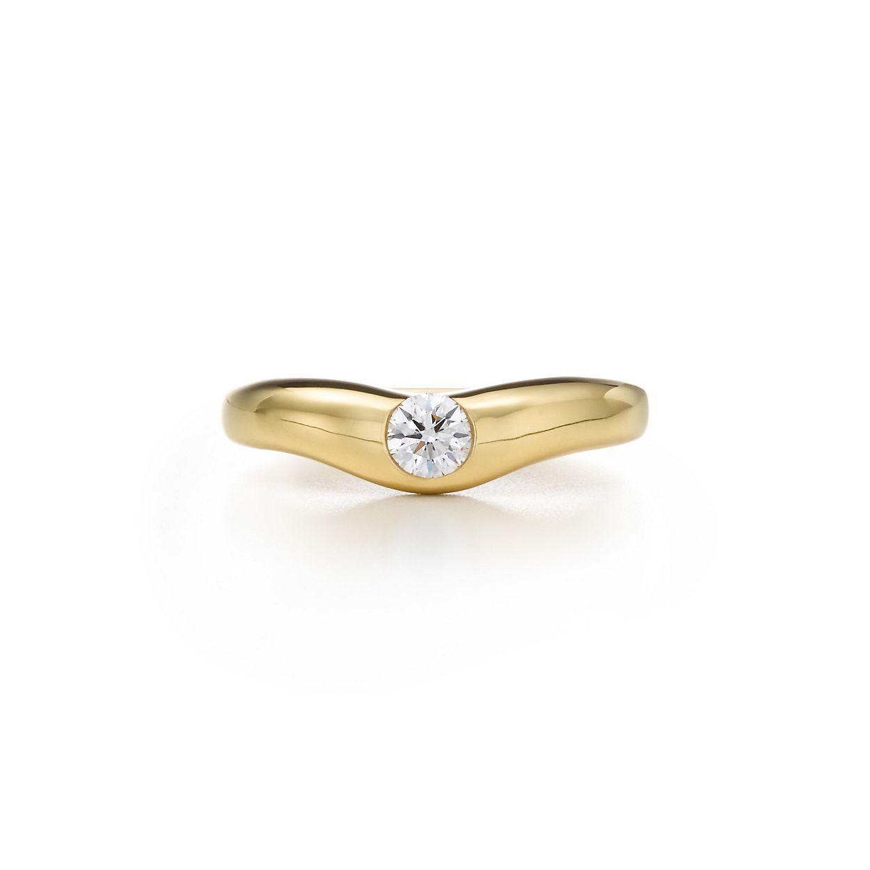 Elsa Peretti wedding band ring with diamonds in 18k gold - Size 4 1/2 Tiffany & Co. vL8FbbDNIy