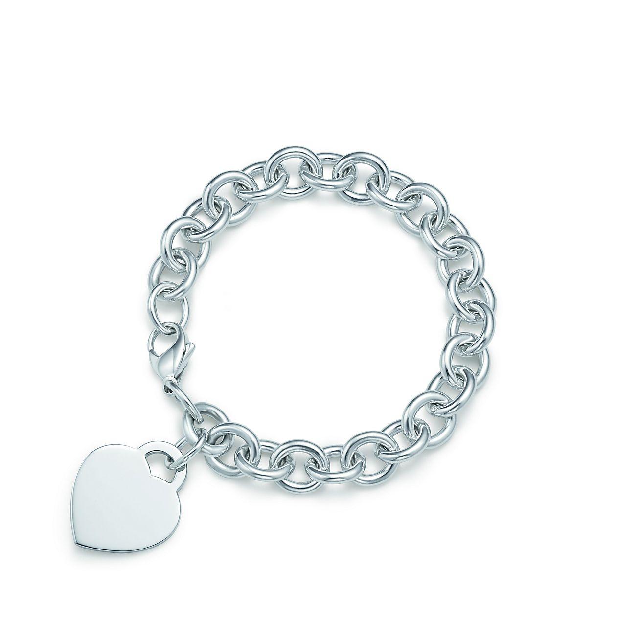 Tiffany Hearts Heart Tag Charm Bracelet