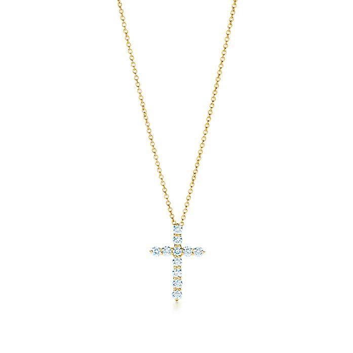 566538fad1247 Cross pendant in 18k gold with diamonds, small.   Tiffany & Co.