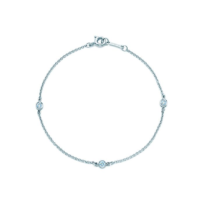 acbc2d3e8 Elsa Peretti® Diamonds by the Yard® bracelet in platinum.   Tiffany ...