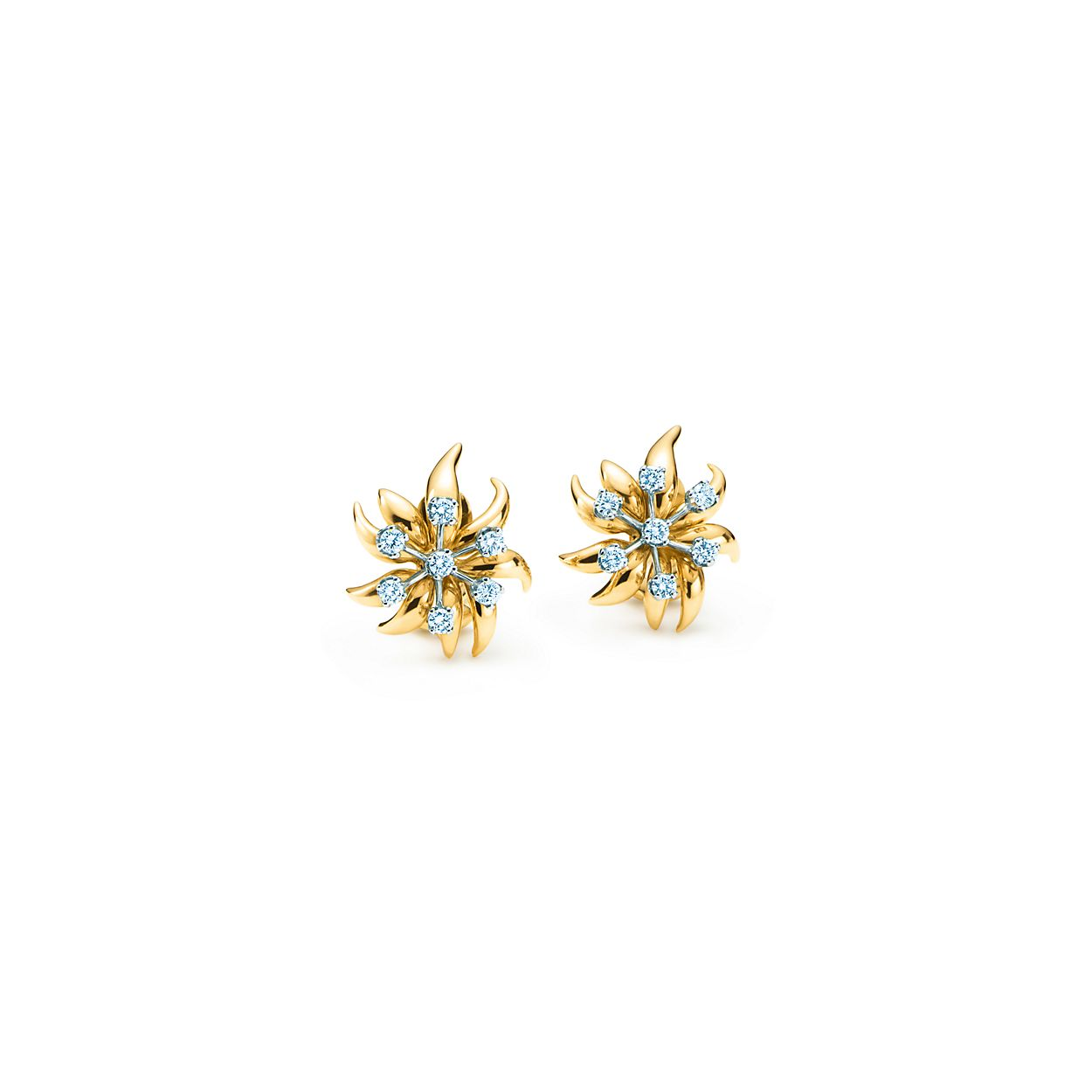 Schlumberger Flame Ear Clips Tiffany Co
