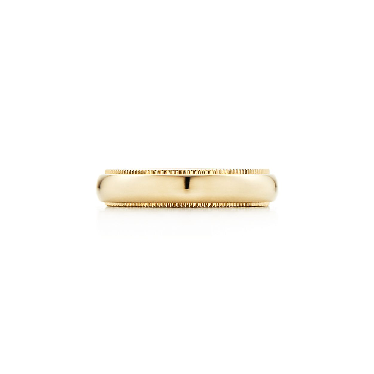 Tiffany Classic milgrain wedding band ring in 18k gold, 3 mm wide - Size 10 1/2 Tiffany & Co.