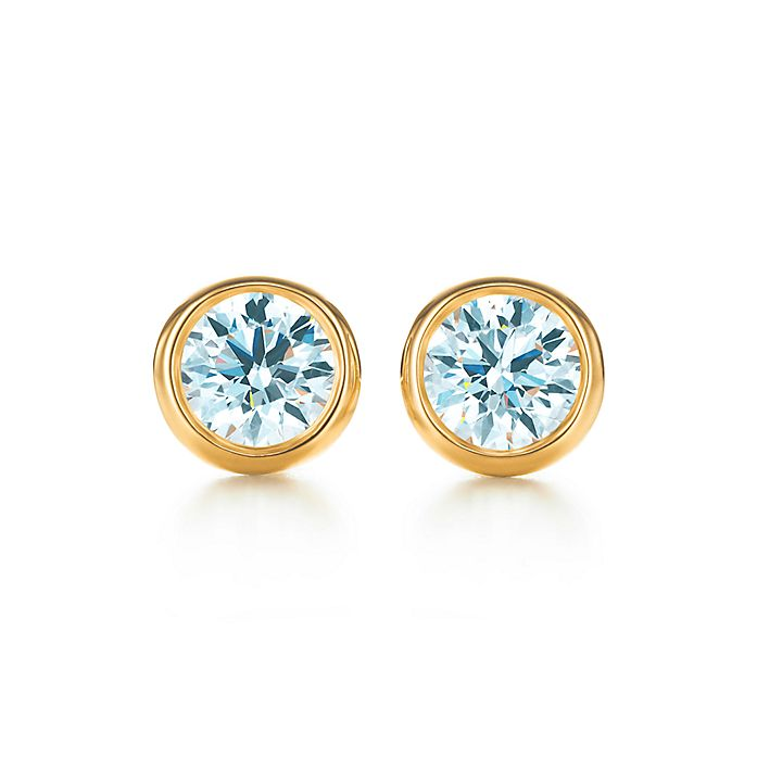 43b42769b Elsa Peretti® Diamonds by the Yard® earrings in 18K gold. | Tiffany ...