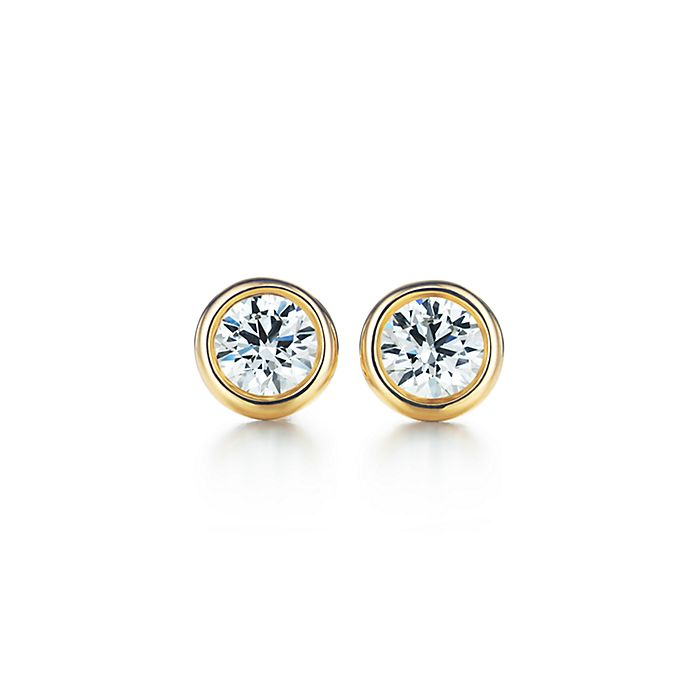923f0b3e1 Elsa Peretti® Diamonds by the Yard® earrings in 18k gold. | Tiffany ...