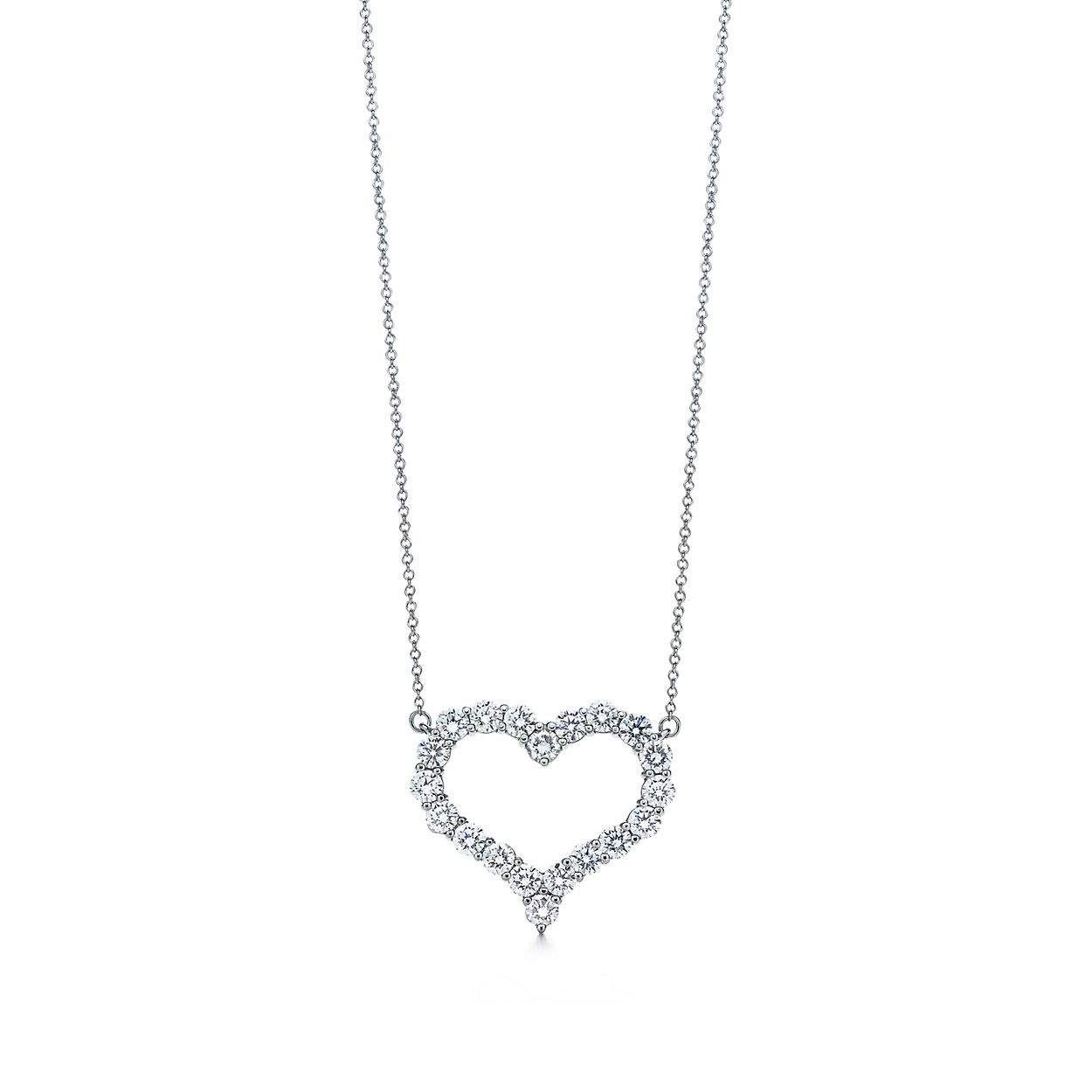 Pendant in platinum with diamonds large tiffany co diamond heart pendant diamond heart pendant aloadofball Images