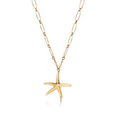 Elsa Peretti Starfish necklace in 18k gold Tiffany Co