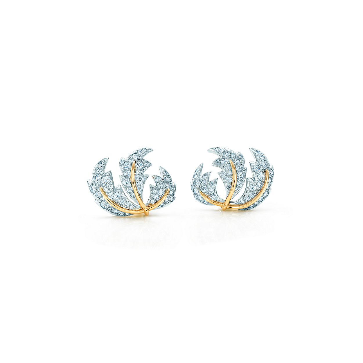 Schlumberger Three Leaves Ear Clips Tiffany Co