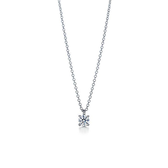 4a9a84a87990b Tiffany solitaire diamond pendant in platinum. | Tiffany & Co.