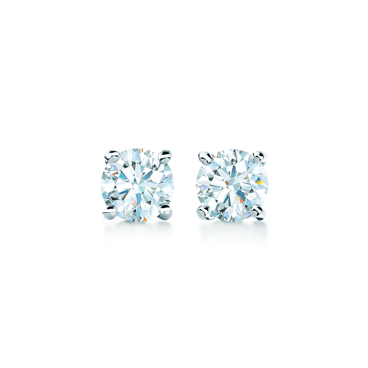 jewellery large zoom earrings zirconia cz round cubic studs stud product plated platinum