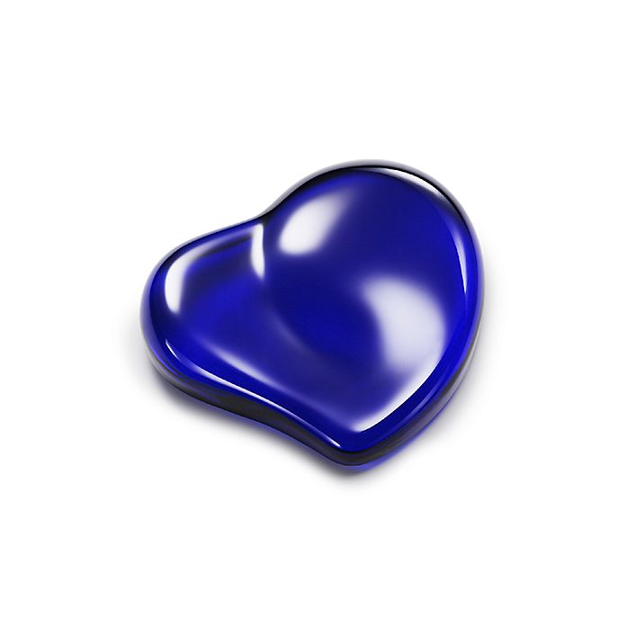 82e315c0467 Elsa Peretti® Heart paperweight in cobalt crystal.