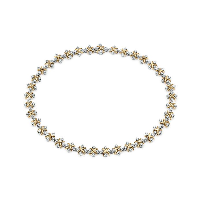 9f60a4144 Tiffany & Co. Schlumberger Lynn necklace in 18k gold with diamonds ...