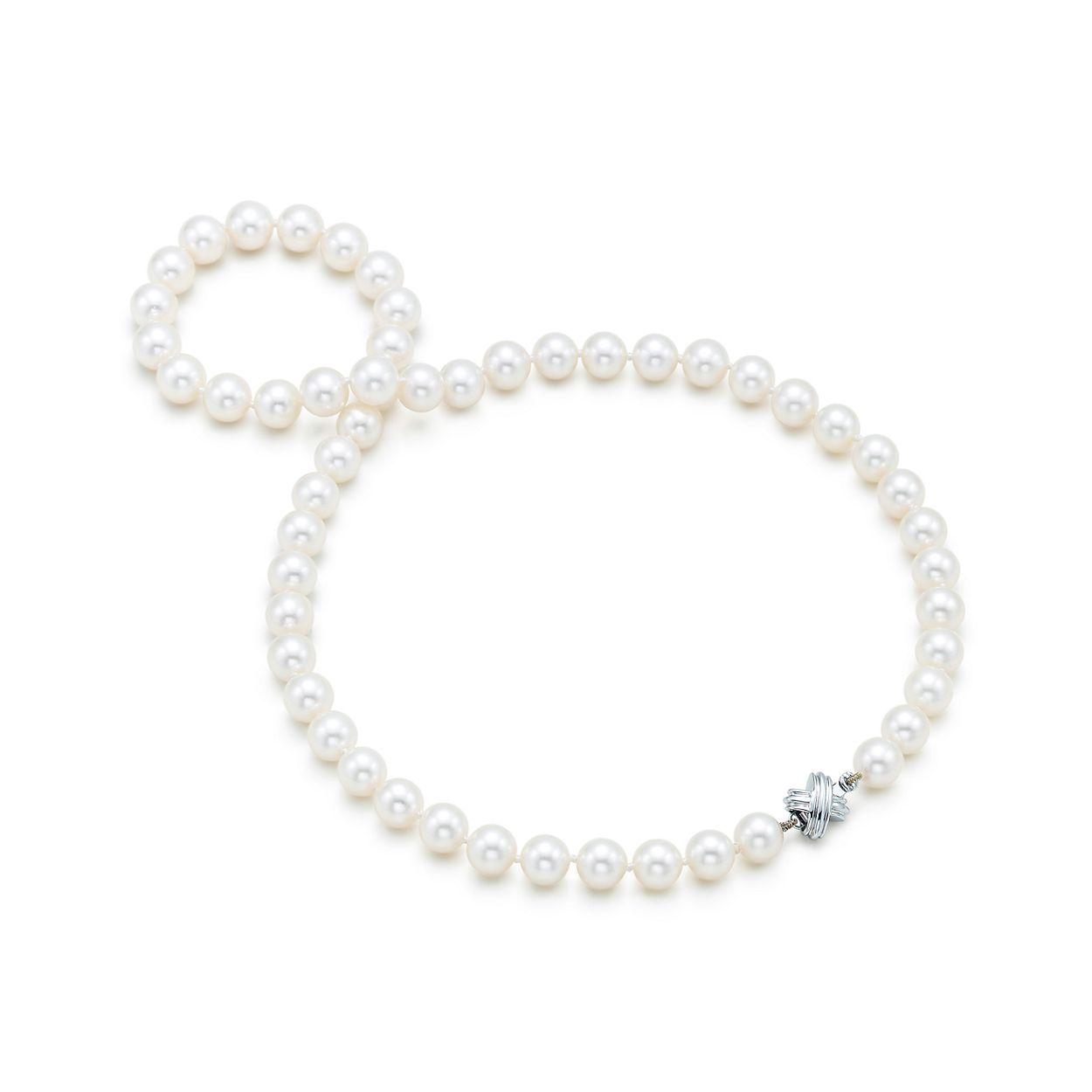Tiffany signature pearls necklace of pearls with 18k white gold tiffany signature pearlsnecklace tiffany signature pearlsnecklace aloadofball Gallery