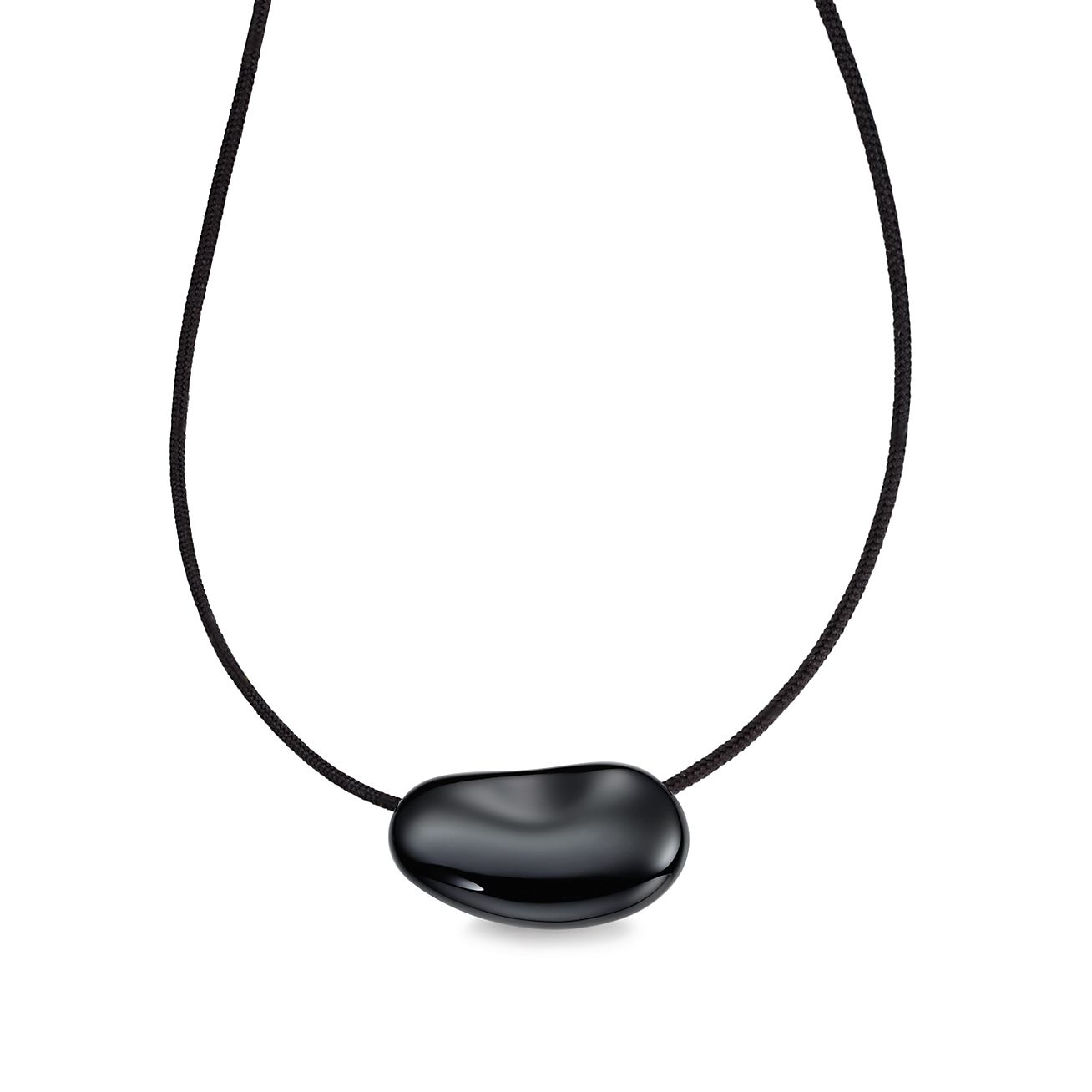 Elsa Peretti Bean pendant in black lacquer over Japanese hardwood Tiffany & Co.