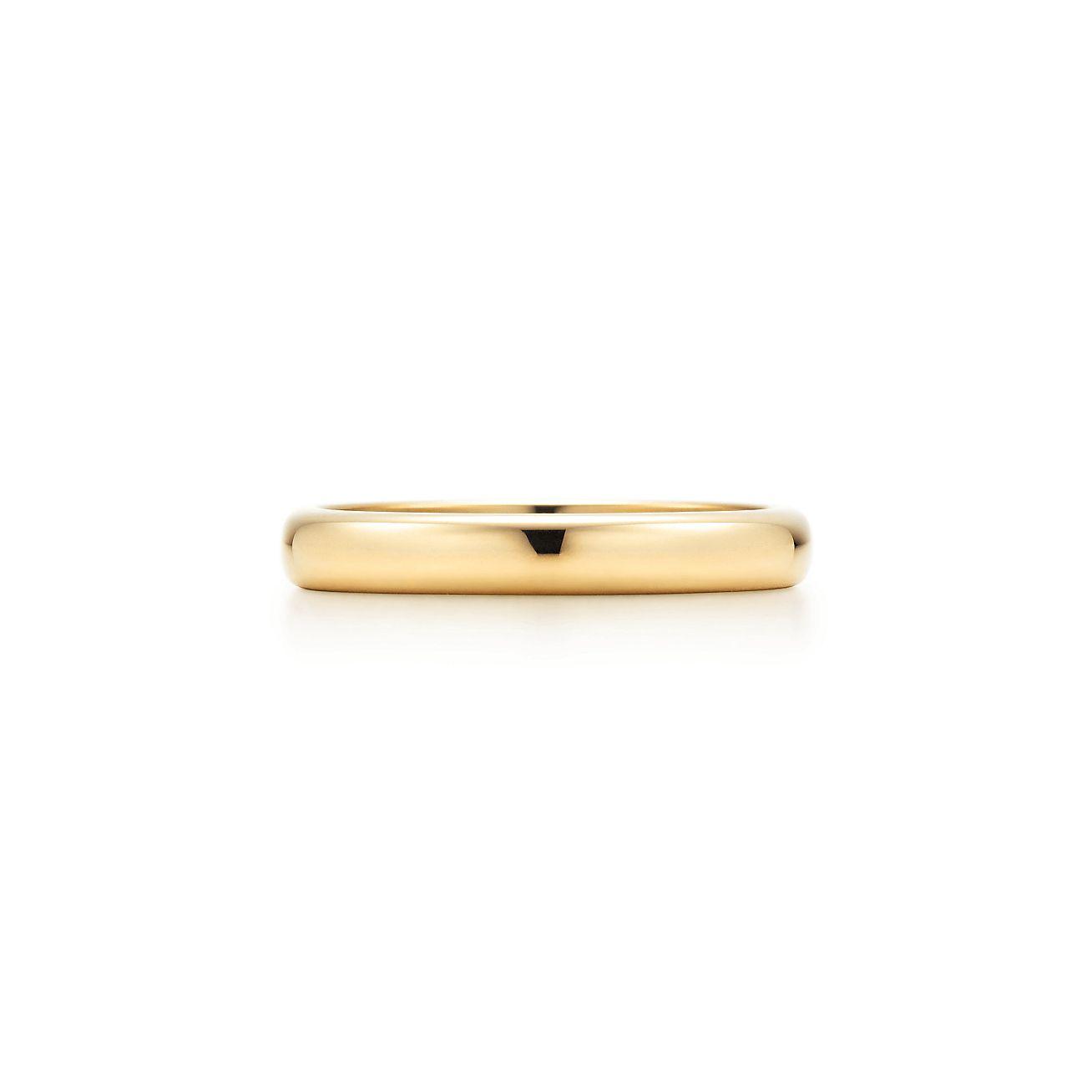 Tiffany Classic Wedding Band Ring In 18k Gold 3 Mm Wide Tiffany
