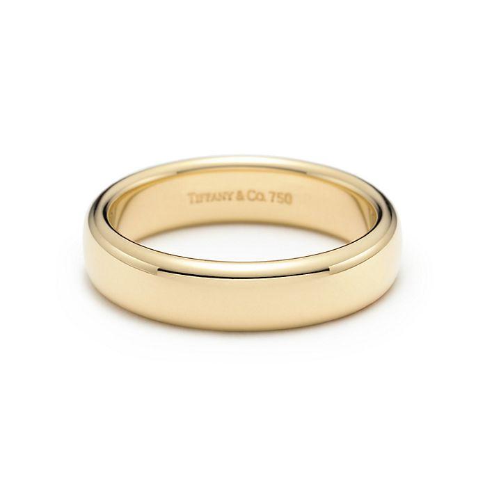d66da1130 Tiffany Classic™ wedding band ring in 18k gold, 4.5 mm wide ...