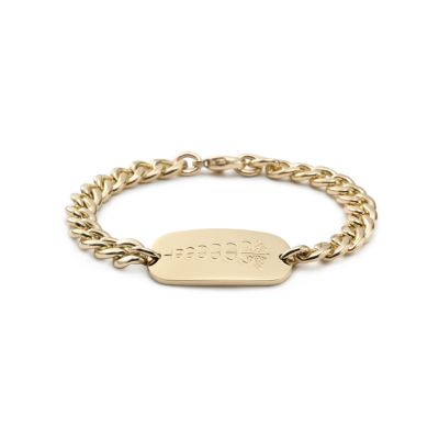 Medical ID bracelet in 18k gold Tiffany Co