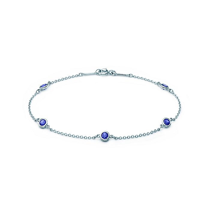 f30b14825a405 Elsa Peretti® Color by the Yard bracelet in platinum with sapphires ...