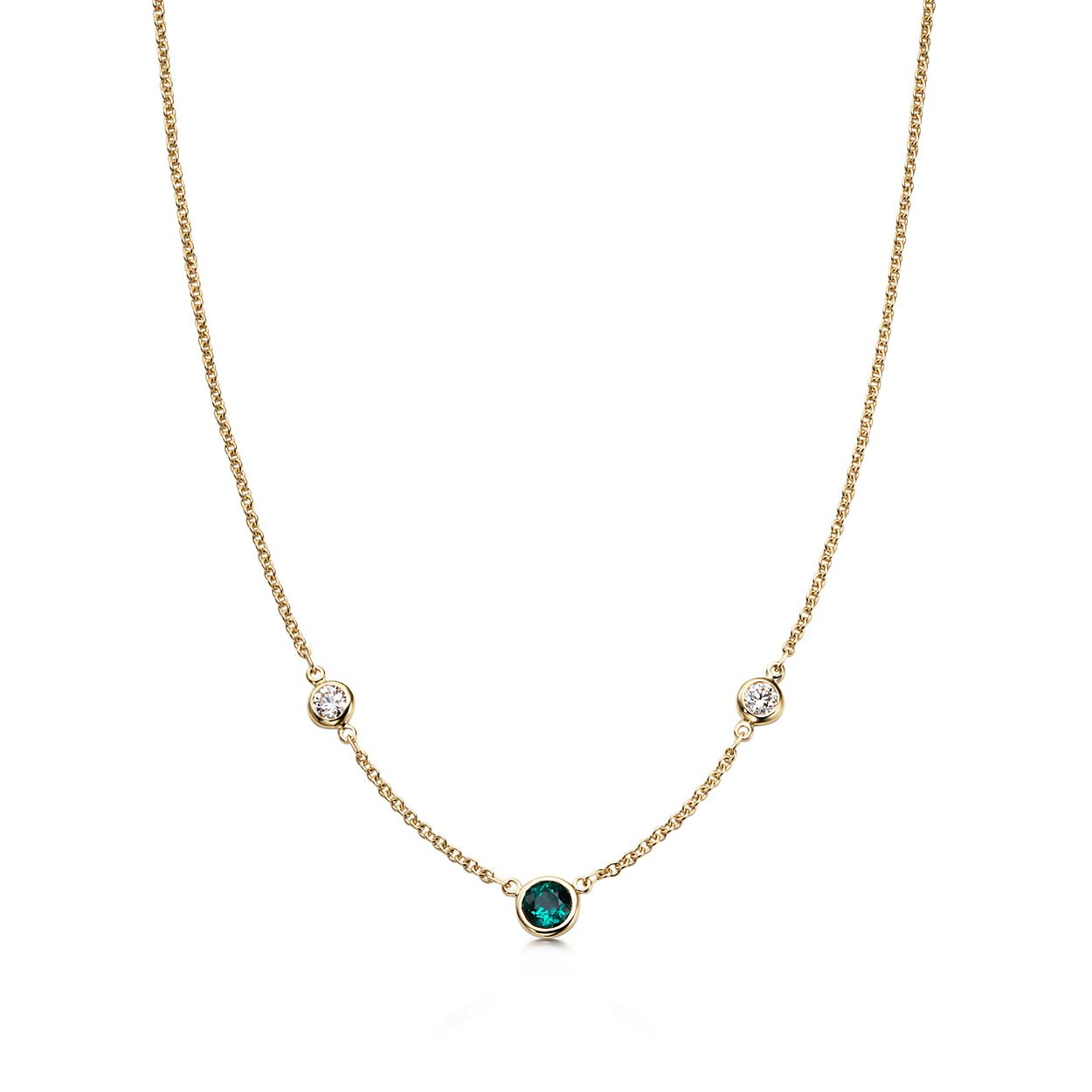 gold necklace devishi emerald