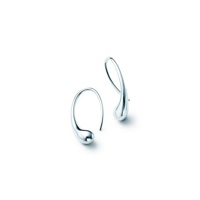 6abbff47e Elsa Peretti® Teardrop hoop earrings in sterling silver. | Tiffany & Co.