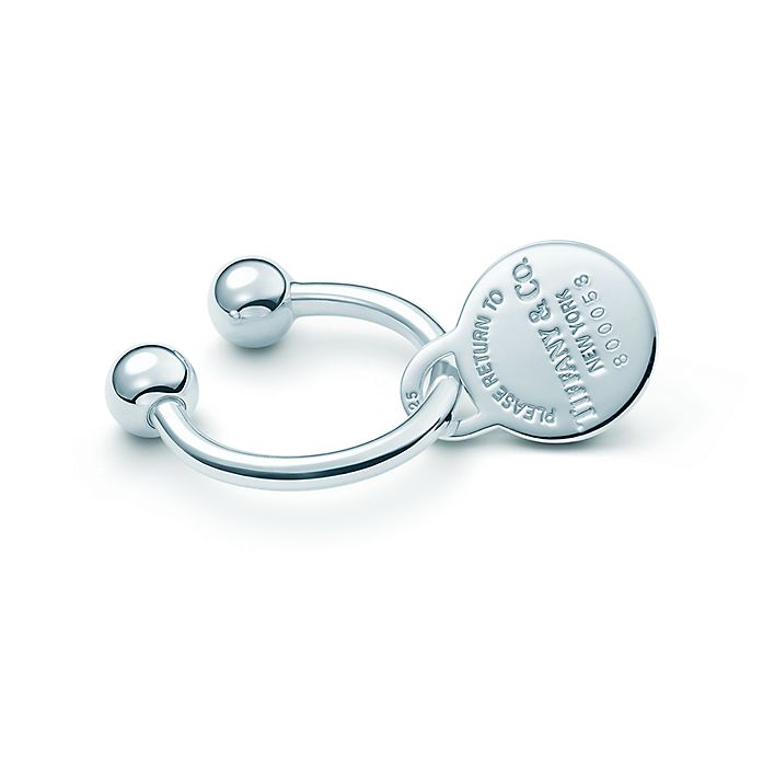 b3f0b2cb4 Return to Tiffany™ round key ring in sterling silver. | Tiffany & Co.