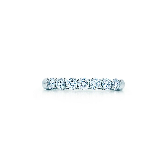 f3c7c502bc8 Tiffany Embrace® band ring in platinum with diamonds